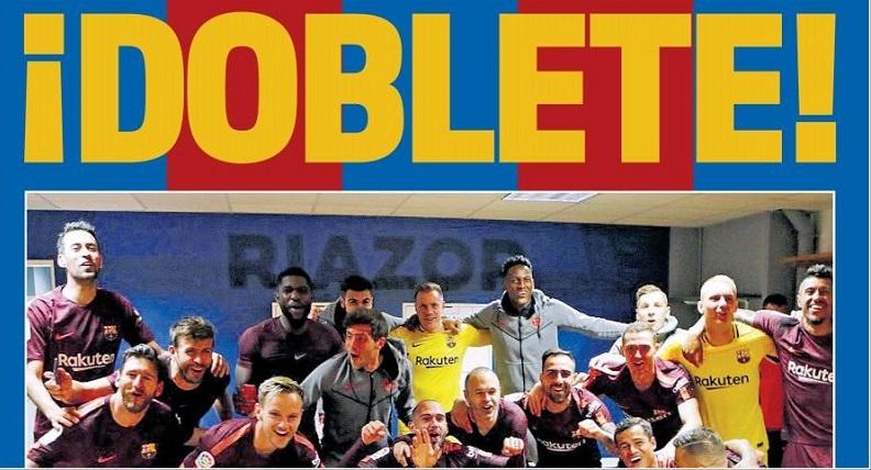 El Barça conquista el Doblete