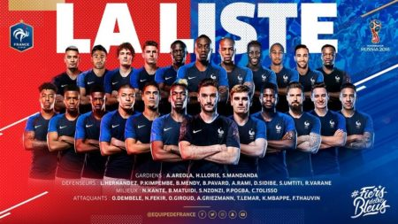 Los 23 Convocados por Francia para el Mundial de Rusia 2018   Lista definitiva