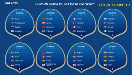 Calendario Mundial Rusia 2018 en PDF   Fixture para Descargar