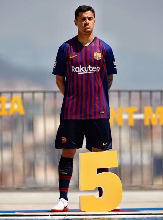 Camiseta Barcelona 2018-2019 Coutinho