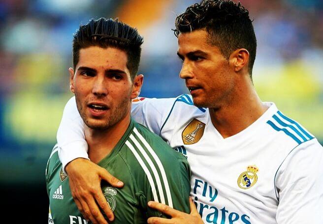 Luca Zidane y Cristiano Ronaldo