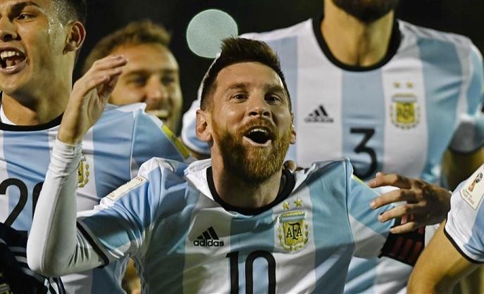 Messi con la Selección Argentina