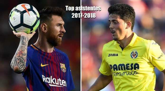 Messi y Fornals máximos asistentes Liga Española 2017-2018