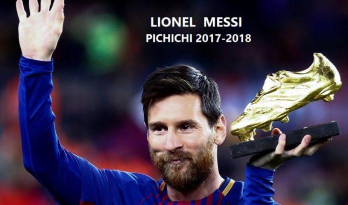 Leo Messi Pichichi de la Liga Española 2017-2018