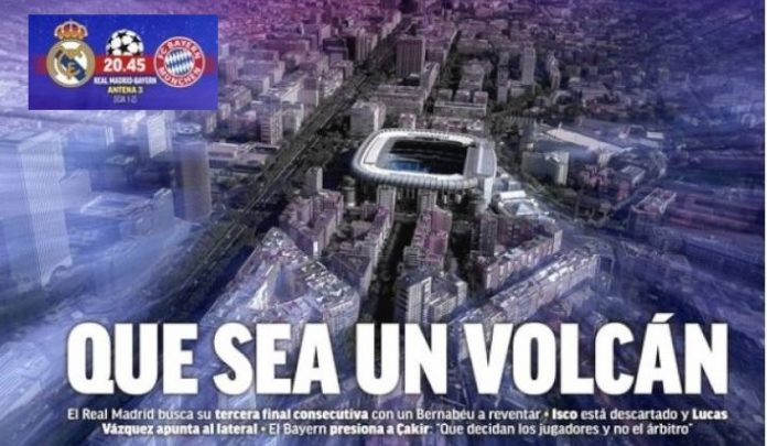El Bernabéu será un Volcán