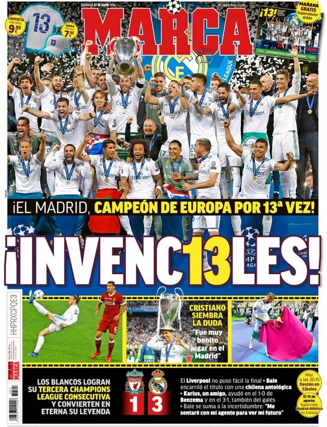 Portada Marca Real Madrid Campeón Champions 2018