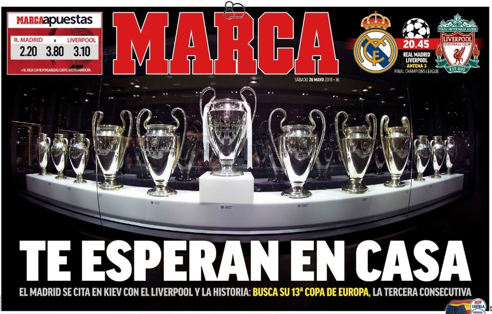 Portada Marca Final Champions League 2018 Real Madrid-Liverpool