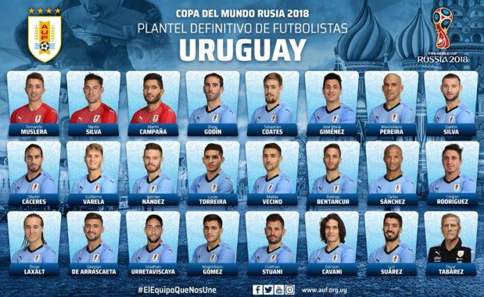 Convocados Uruguay Mundial Rusia 2018