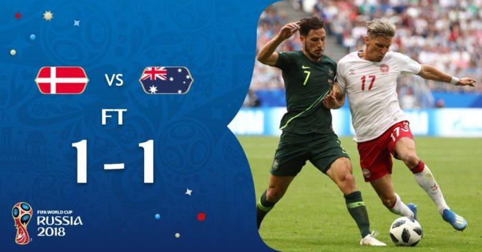 Dinamarca 1-1 Australia Mundial Rusia