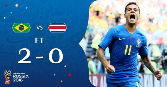 Brasil 2-0 Costa Rica Mundial Rusia