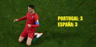 Portugal 3-3 España Mundial Rusia