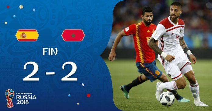 España 2-2 Marruecos Mundial Rusia