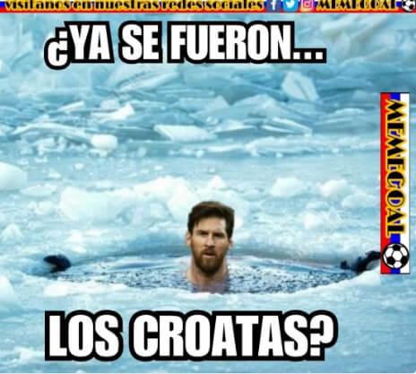 memes argentina croacia messi pecho frio
