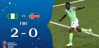Nigeria 2-0 Islandia Mundial Rusia