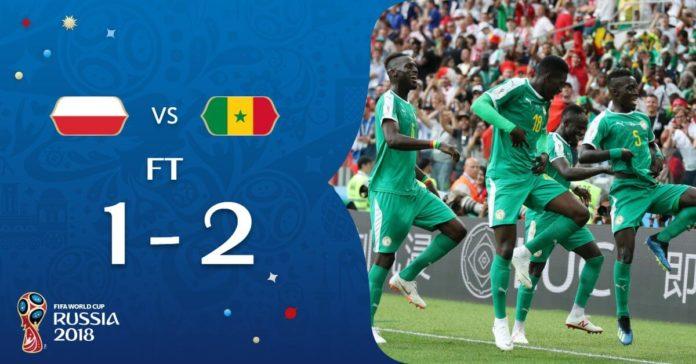 Polonia 1-2 Senegal Mundial Rusia