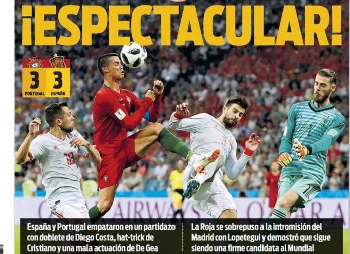 Cristiano amarga el debut de España