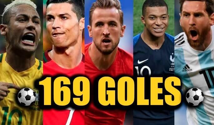 169 Goles Mundial Rusia 2018 tabla de goleadores