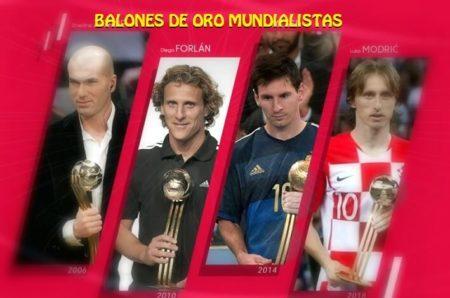 Balones de Oro de Los Mundiales de 1982 a 2018