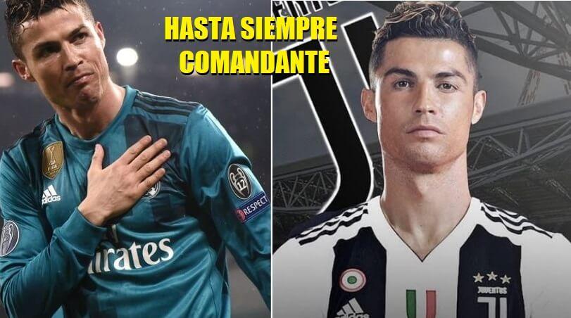 Cristiano Ronaldo ficha por la Juventus hasta siempre comandante