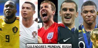 Goleadores Mundial Rusia 2018