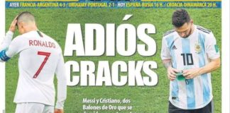 Messi y Cristiano se despiden del Mundial