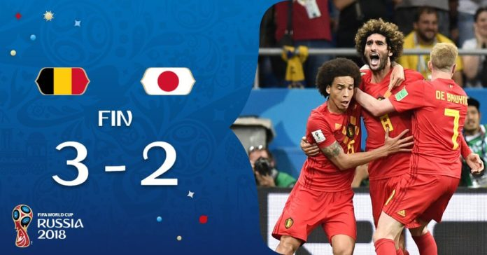 Bélgica le remonta el partido a Japón
