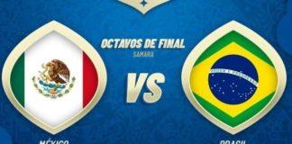 Alineaciones Brasil-México y Bélgica-Japón