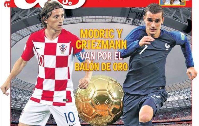 Modric y Griezmann van por el Balón de Oro