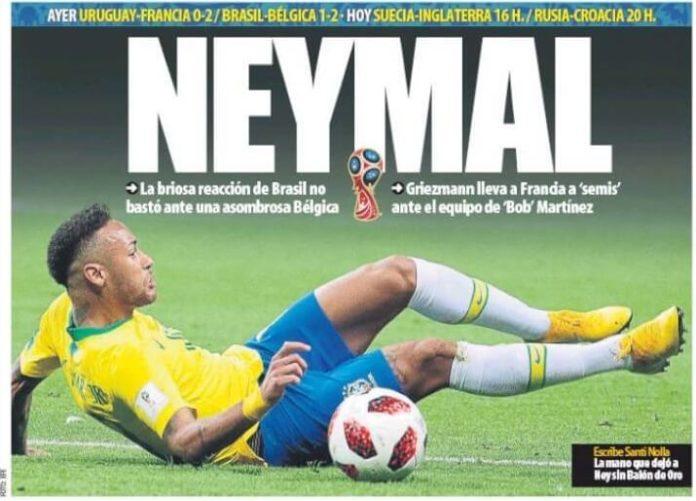 Neymal, Brasil y Uruguay eliminados