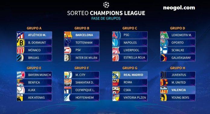 Fixture Champions League 2018-2019