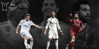 nominados al UEFA Best Player 2018