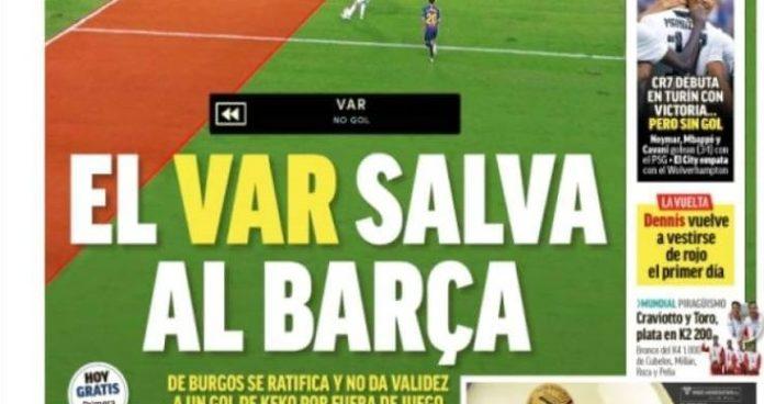 El VAR salva al Barça