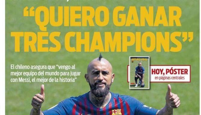 Arturo Vidal quiere 3 Champions