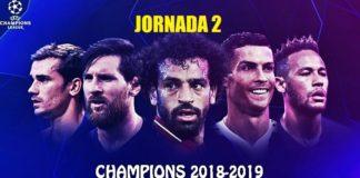 Partidos Jornada 2 Champions 2018