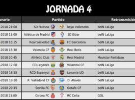Jornada 4 Liga Española 2018