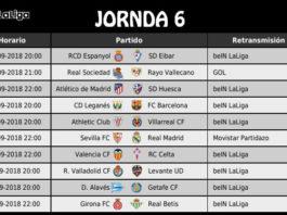 Jornada 6 Liga Española 2018