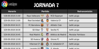 Jornada 7 Liga Española 2018