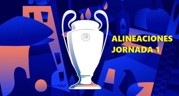 Alineaciones Jornada 1 Champions 2018