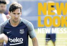 Messi estrena nuevo look