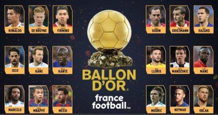 Los 30 Candidatos al Balón de Oro 2018 | Ballon d'Or Nominados