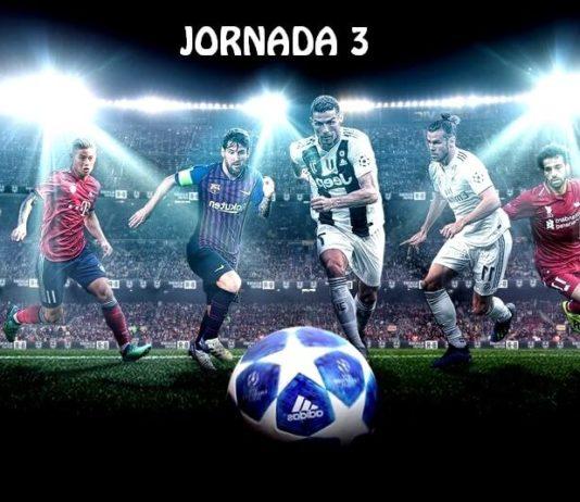 Partidos Jornada 3 Champions 2018