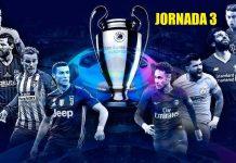 Alineaciones Jornada 3 Champions 2018