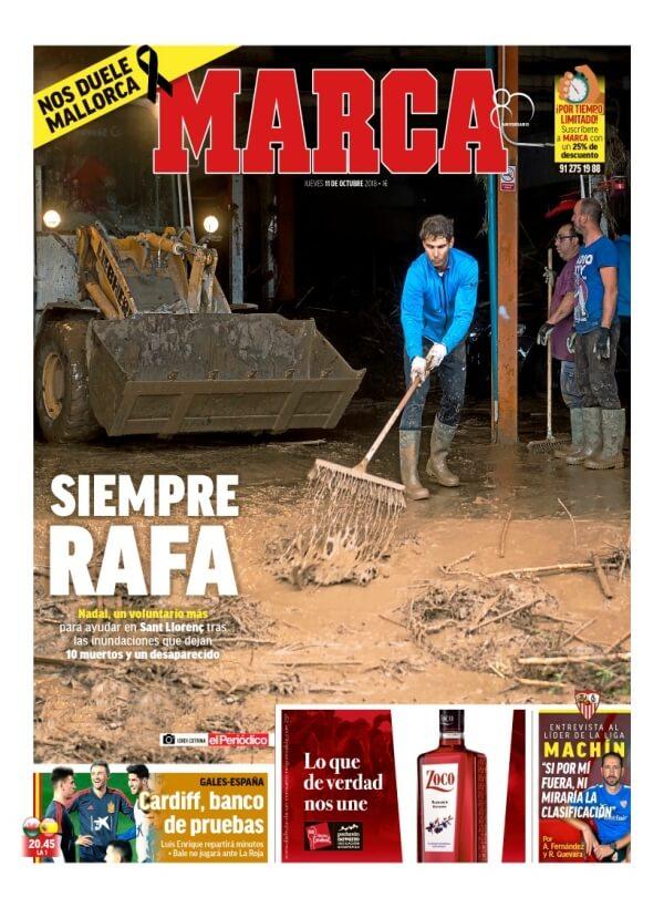 Portada diario Marca 11/10/2018