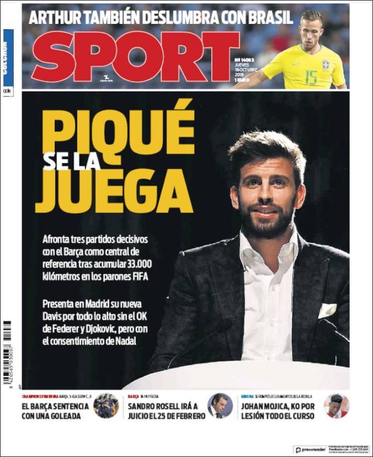 Portada Sport 18/10/2018