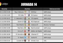 Jornada 14 Liga Santander 2018