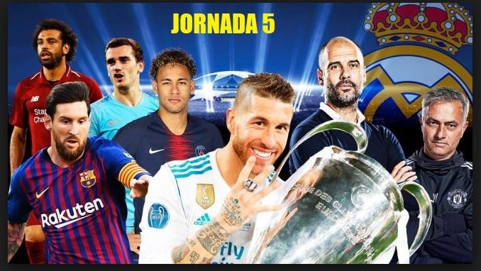Partidos Jornada 5 Champions 2018