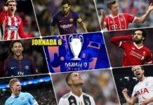 Partidos Jornada 6 Champions 2018
