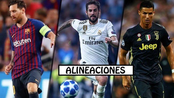 Alineaciones Jornada 4 Champions 2018
