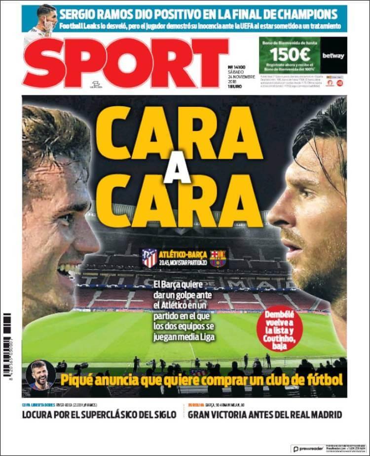 Portada Sport 24/11/2018