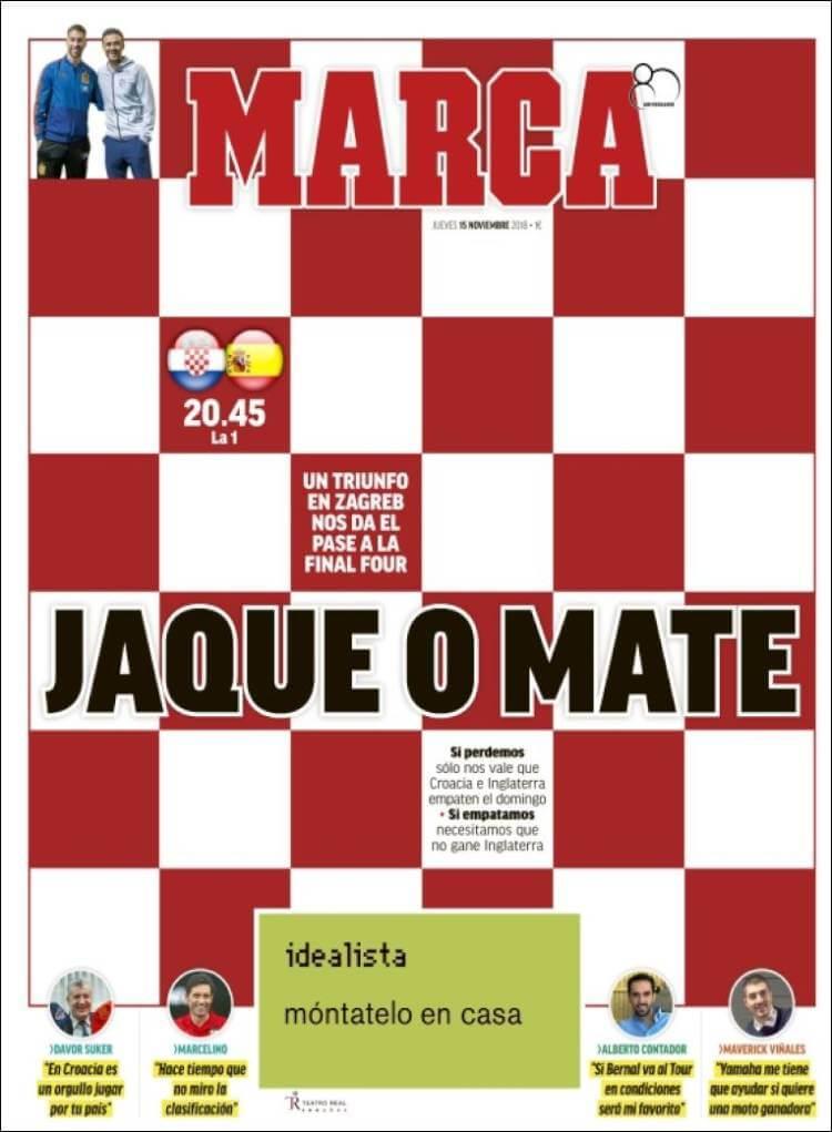 Portadas Marca 15/11/2018